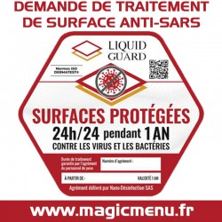 TRAITEMENT DE SURFACE ANTI-SARS COVID 19